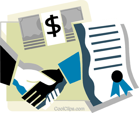 Business Contracts Royalty Free Vector Clip Art illustration vc110297