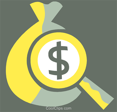 Money Bags Royalty Free Vector Clip Art illustration vc110301