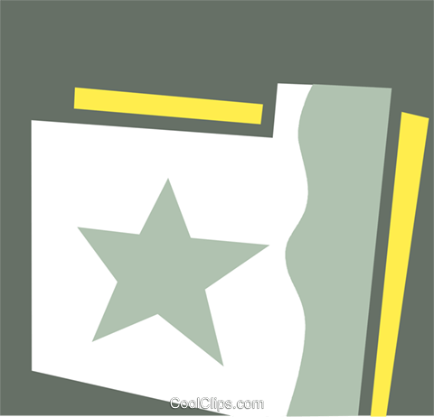 File Folders Royalty Free Vector Clip Art illustration vc110314
