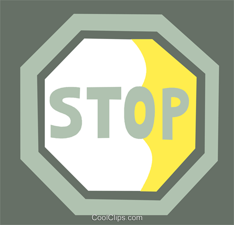 Stop Sign Royalty Free Vector Clip Art illustration vc110321