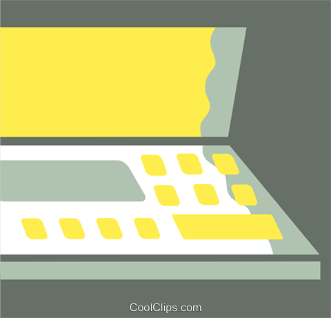 Laptops and Notebook Computers Royalty Free Vector Clip Art illustration vc110341