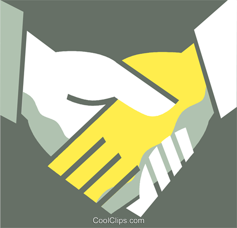 Shaking Hands Royalty Free Vector Clip Art illustration vc110356