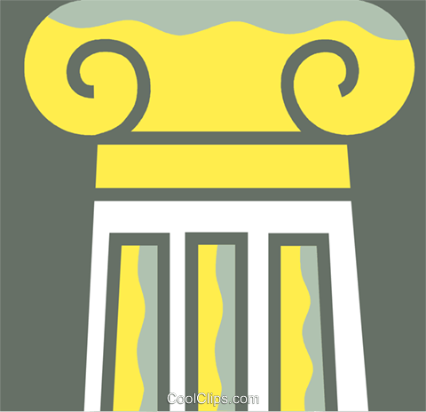 Column or Pedestal Royalty Free Vector Clip Art illustration vc110362