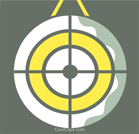 Targets and Objectives Royalty Free Vector Clip Art illustration vc110363