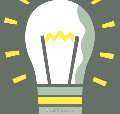 Idea Light bulbs Royalty Free Vector Clip Art illustration vc110370