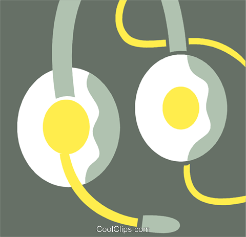 Headphones Royalty Free Vector Clip Art illustration vc110380