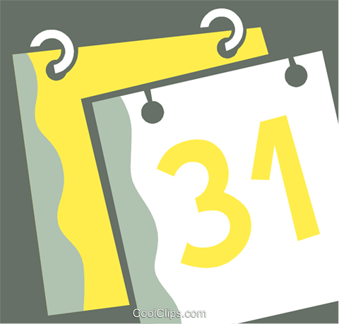 Calendars Royalty Free Vector Clip Art illustration vc110388