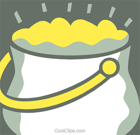 Pot of Gold Royalty Free Vector Clip Art illustration vc110401