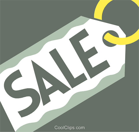 Sales and Price Tags Royalty Free Vector Clip Art illustration vc110403