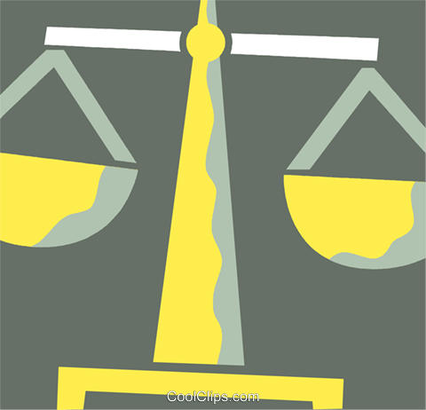 Scales of Justice Royalty Free Vector Clip Art illustration vc110407