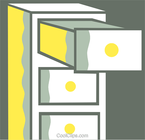 Filing Cabinets Royalty Free Vector Clip Art illustration vc110408