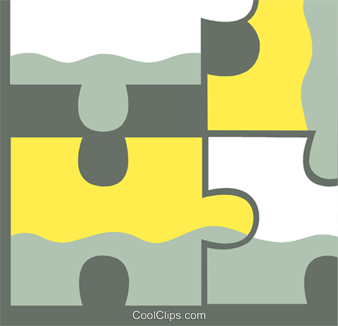 Pieces of a Puzzle Royalty Free Vector Clip Art illustration vc110421