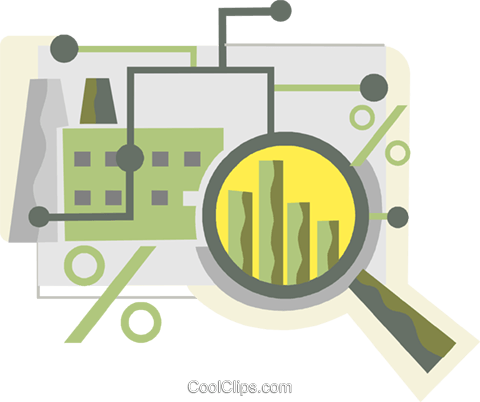 Charting Success Royalty Free Vector Clip Art illustration vc110426