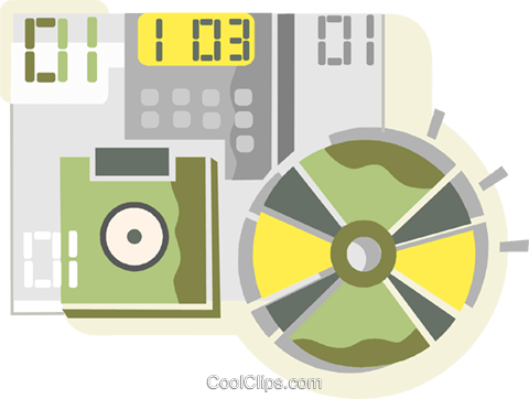CD-ROM Media Royalty Free Vector Clip Art illustration vc110427