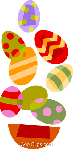 Easter eggs Royalty Free Vector Clip Art illustration vc110438