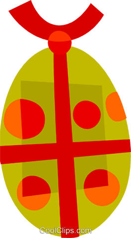 Easter Eggs Royalty Free Vector Clip Art illustration vc110443