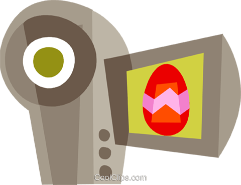 Video Cameras Royalty Free Vector Clip Art illustration vc110444