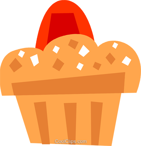 Muffins Royalty Free Vector Clip Art illustration vc110446