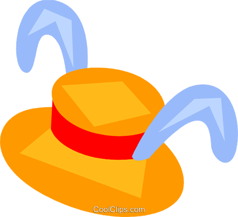 Easter hat Royalty Free Vector Clip Art illustration vc110447