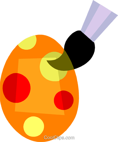 Easter Eggs Royalty Free Vector Clip Art illustration vc110448