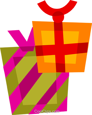 Gifts and Presents Royalty Free Vector Clip Art illustration vc110457