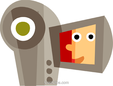 Video Cameras Royalty Free Vector Clip Art illustration vc110462