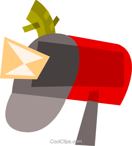 Mailboxes Royalty Free Vector Clip Art illustration vc110492