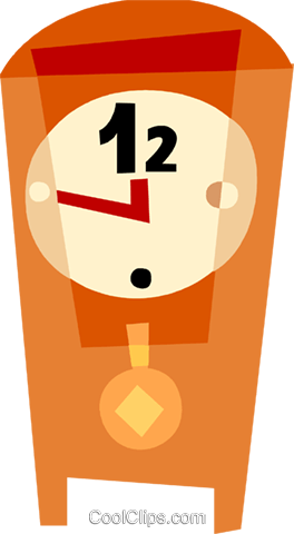 Grandfather Clocks Royalty Free Vector Clip Art illustration vc110493