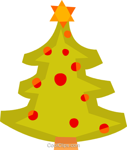 Christmas Trees Royalty Free Vector Clip Art illustration vc110494