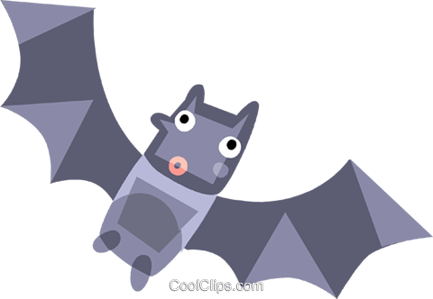 Bats Royalty Free Vector Clip Art illustration vc110505