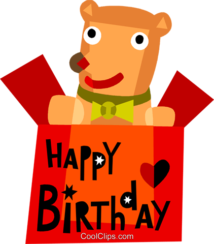 Birthday Presents Gifts Royalty Free Vector Clip Art illustration vc110510