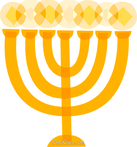 Menorahs Royalty Free Vector Clip Art illustration vc110512