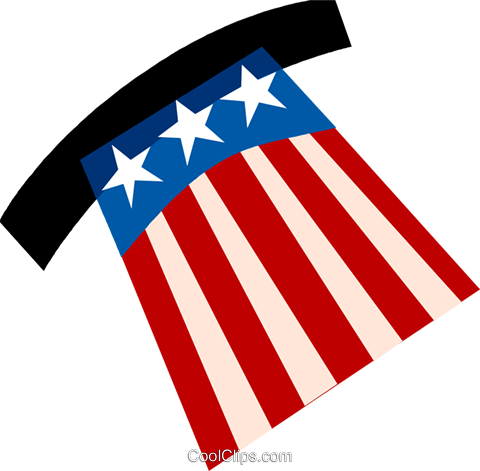 Uncle Sam's hat Royalty Free Vector Clip Art illustration vc110517