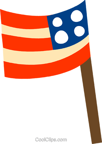 USA Flag Royalty Free Vector Clip Art illustration vc110518