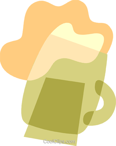 mug of beer Royalty Free Vector Clip Art illustration vc110519