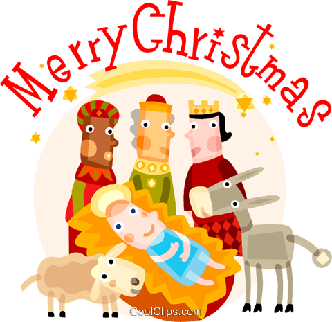 Christmas scene Royalty Free Vector Clip Art illustration vc110532