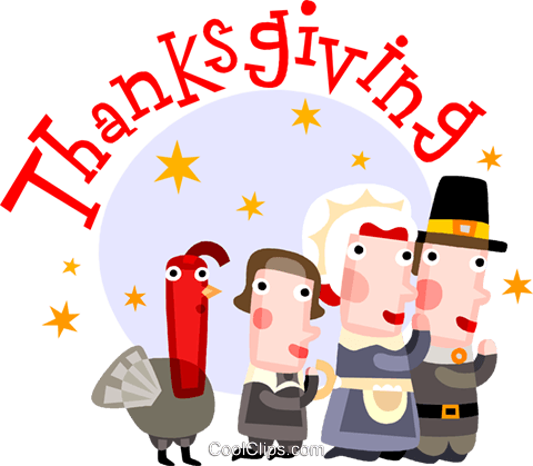Thanksgiving scene Royalty Free Vector Clip Art illustration vc110534
