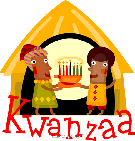 Kwanzaa celebration Royalty Free Vector Clip Art illustration vc110537