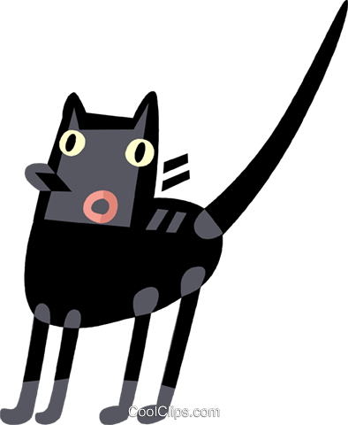 Black Cats Royalty Free Vector Clip Art illustration vc110566