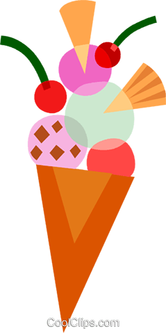 Ice Cream and Frozen Treats Royalty Free Vector Clip Art illustration vc110571
