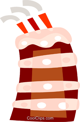 Birthday Cakes Royalty Free Vector Clip Art illustration vc110572