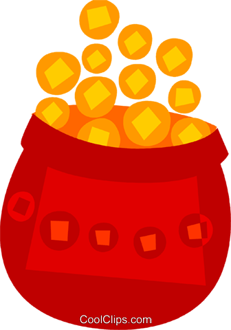 Pot of Gold Royalty Free Vector Clip Art illustration vc110578