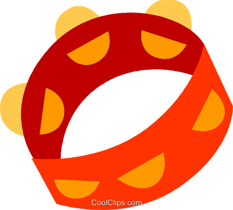 Tambourines Royalty Free Vector Clip Art illustration vc110580