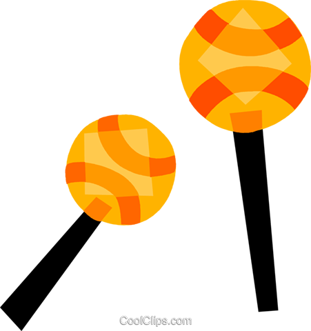 Maracas Royalty Free Vector Clip Art illustration vc110581