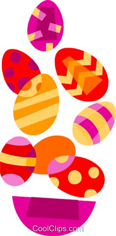 Easter Eggs Royalty Free Vector Clip Art illustration vc110590