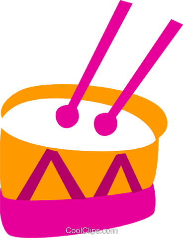 Drums Royalty Free Vector Clip Art illustration vc110591