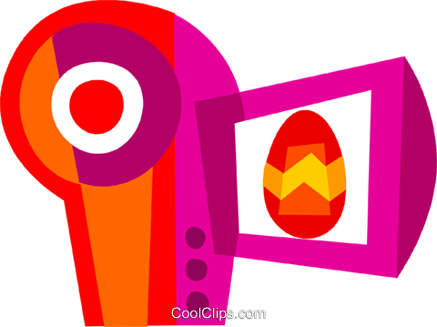 Video Cameras Royalty Free Vector Clip Art illustration vc110597