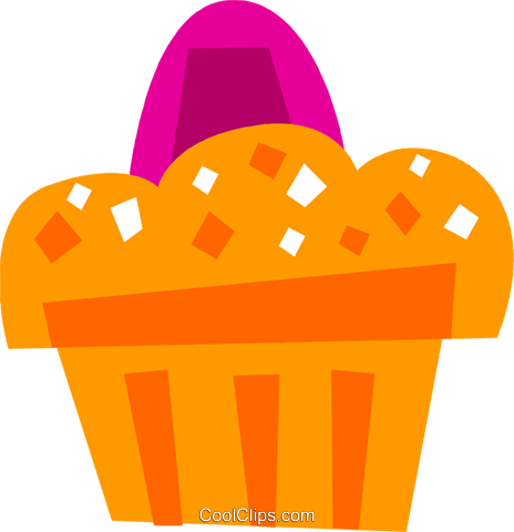 Muffins Royalty Free Vector Clip Art illustration vc110599