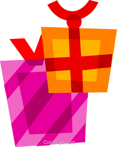 Gifts and Presents Royalty Free Vector Clip Art illustration vc110610