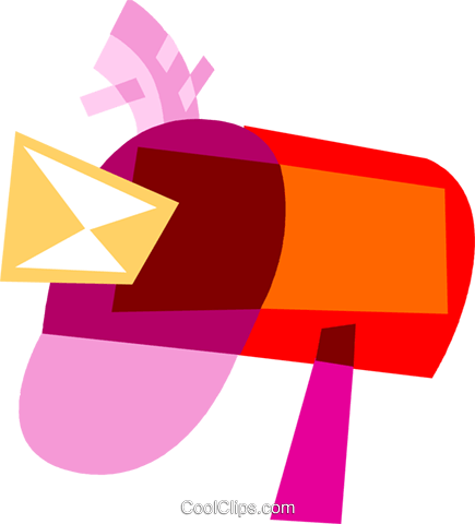Mailboxes Royalty Free Vector Clip Art illustration vc110646